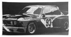 Bmw 3.0 Csl Alexander Calder Art Car Beach Towel