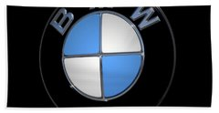 Bmw Emblem Beach Sheet by DigiArt Diaries by Vicky B Fuller
