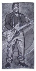 Bo Diddley - Have Guitar Will Travel Beach Towel by Sean Connolly