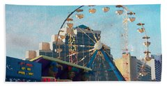 Boardwalk Ferris  Beach Towel by Alice Gipson