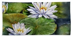 Boardwalk Lilies Beach Towel