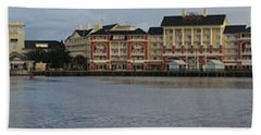 Boardwalk Panorama Walt Disney World Beach Sheet by Thomas Woolworth