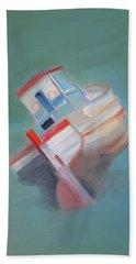 Beach Sheet featuring the painting Boat Retired  Tavira by Charles Stuart