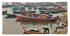 The Journey - Varanasi India Beach Sheet