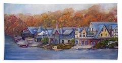 Boathouse Row In Philadelphia Beach Sheet