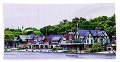 Boathouse Row Panarama Beach Towel