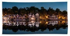 Boathouse Row Panorama Beach Towel