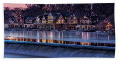 Boathouse Row Beach Towel