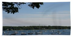 Beach Towel featuring the photograph Boats At Rest by Denyse Duhaime