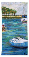Boats At St Petersburg Beach Towel
