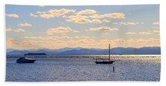 Boats On Lake Champlain Vermont Beach Towel