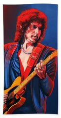 Bob Dylan Painting Beach Towel by Paul Meijering