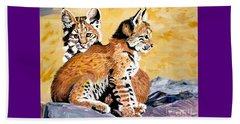 Bob Kittens Beach Sheet by Phyllis Kaltenbach