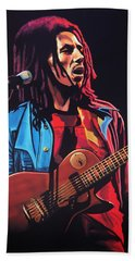 Bob Marley 2 Beach Towel by Paul Meijering