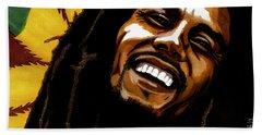 Bob Marley Rastafarian Beach Towel