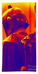 Boba Fett Costume 2 Beach Towel by Micah May