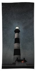 Bodie Island Light Midnight Beach Towel