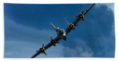 Boeing B-17 Flying Fortress Beach Towel by Adam Romanowicz