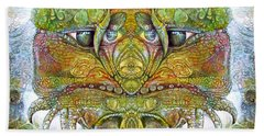 Beach Towel featuring the digital art Bogomil Variation 11 by Otto Rapp