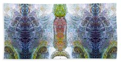 Beach Towel featuring the digital art Bogomil Variation 13 by Otto Rapp