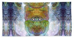 Beach Towel featuring the digital art Bogomil Variation 15 by Otto Rapp