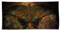 Bohemia Butterfly - Art Nouveau Beach Sheet by Absinthe Art By Michelle LeAnn Scott