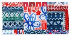 Boho Americana- Patchwork Painting Beach Towel