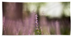 Bokeh With Purple Wildflower Beach Towel