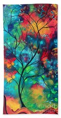 Bold Rich Colorful Landscape Painting Original Art Colored Inspiration By Madart Beach Towel