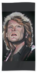 Beach Towel featuring the pastel Bon Jovi by Peter Suhocke