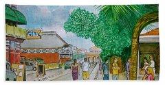 Bonaire Street Beach Sheet by Frank Hunter