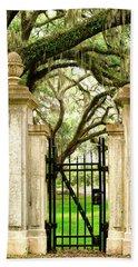 Bonaventure Cemetery Gate Savannah Ga Beach Towel
