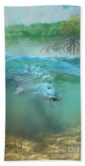 Beach Towel featuring the painting Bone Fish by Rob Corsetti