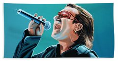 Bono Of U2 Painting Beach Towel