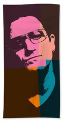Bono Pop Art Beach Sheet by Dan Sproul