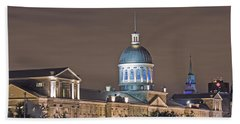 Bonsecours At Night Beach Sheet