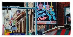 Boogie On Beale St Memphis Tn Beach Towel