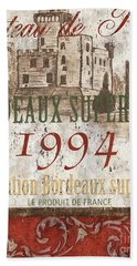 Bordeaux Blanc Label 2 Beach Towel