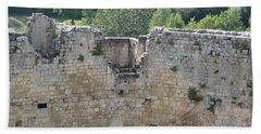Bordeaux Castle Ruins With Vineyard Beach Towel