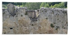 Bordeaux Castle Ruins With Vineyard Beach Sheet