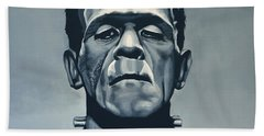 Boris Karloff As Frankenstein  Beach Towel