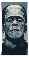 Boris Karloff As Frankenstein  Beach Towel by Paul Meijering