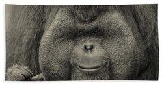 Bornean Orangutan II Beach Towel