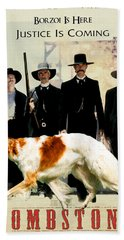 Borzoi Art - Tombstone Movie Poster Beach Towel