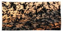Beach Towel featuring the photograph Bosque Sunrise Blastoff by John F Tsumas