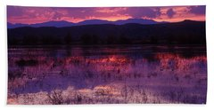 Bosque Sunset - Purple Beach Towel