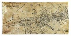 Boston Bonner Map 1722 Beach Towel