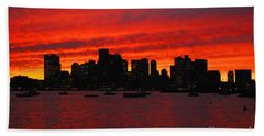 Boston City Sunset Beach Towel