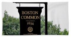 Boston Common Ma Beach Towel