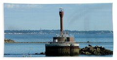 Boston Harbor Lighthouse Beach Towel